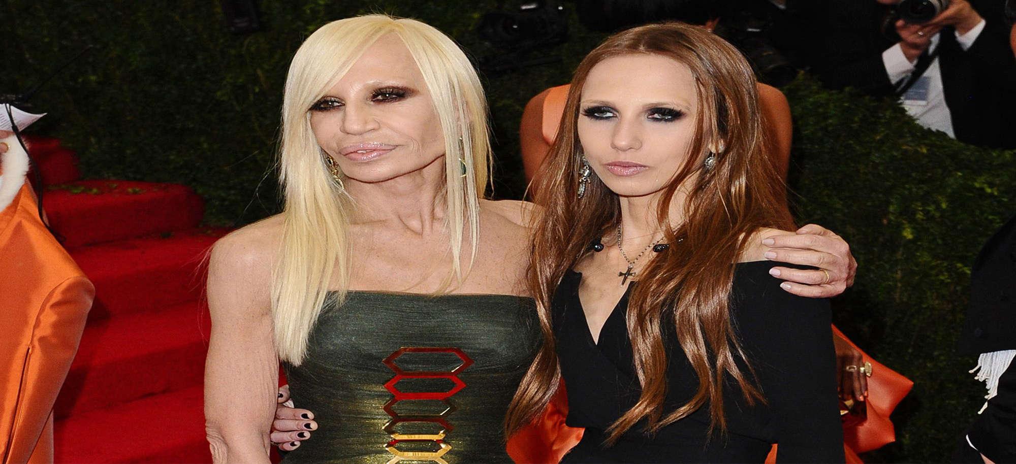 Donatella Versace and daughter Allegra