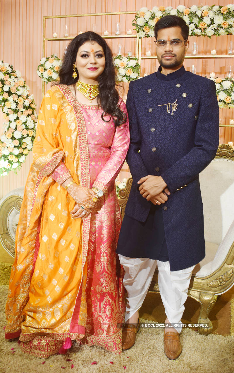 A glittering engagement for Vaswee and Rahul
