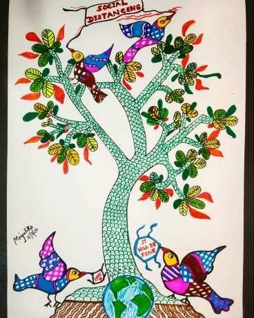 Gond Illustration by Manjulika