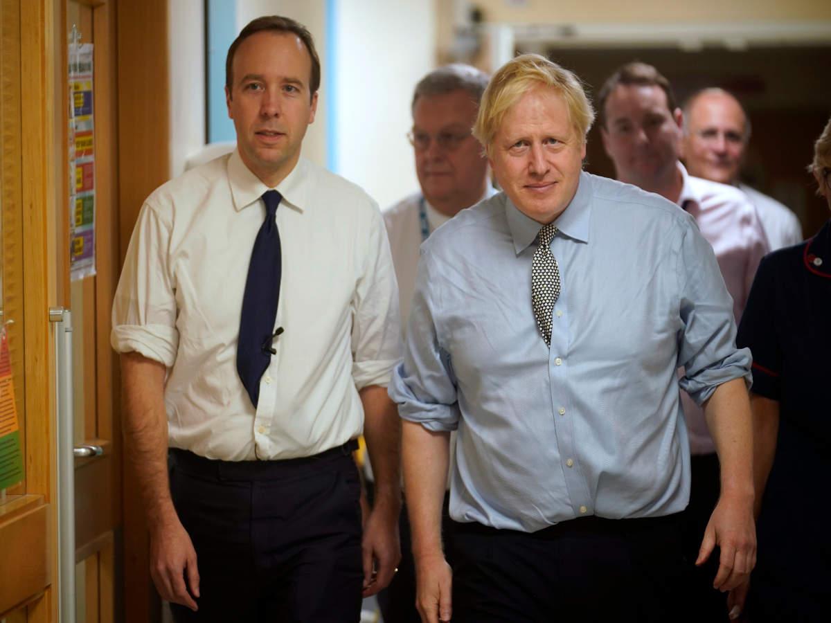 Boris Johnson: British PM Johnson, health secretary Hancock test ...