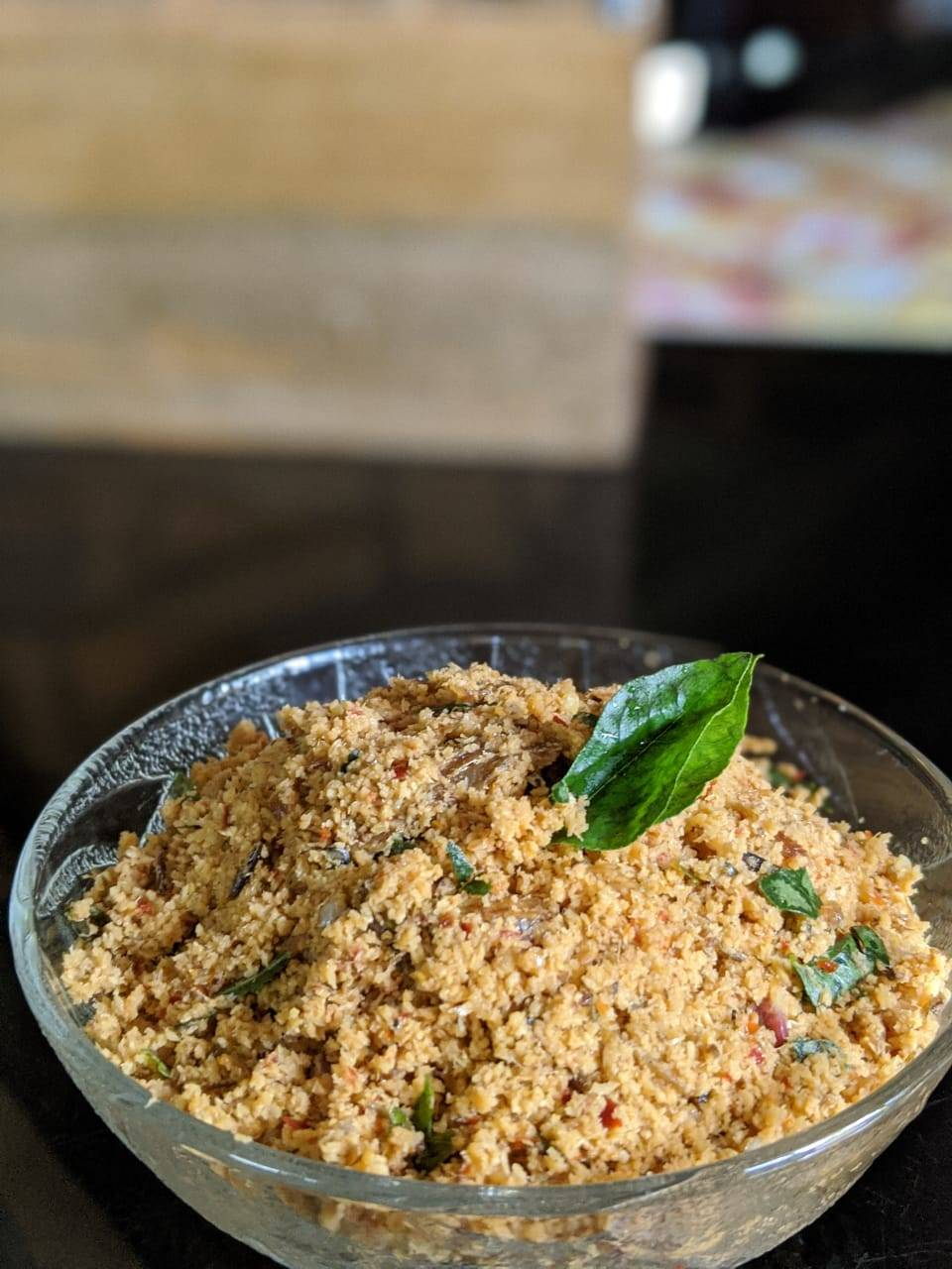 Dry fish chamandhi prepared by Ahana