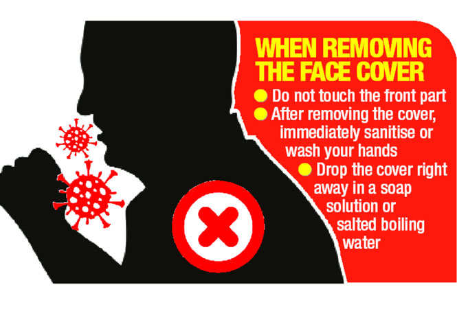 Donts of removing a mask