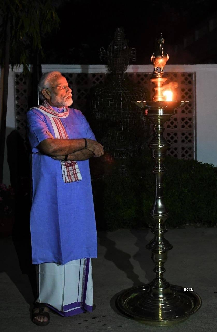 In pics: Nation lights diyas and candles to express collective resolve to fight coronavirus