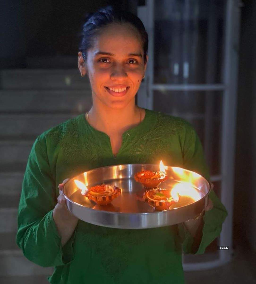 Sports stars light up the night sky as they participate in PM Modi's 'light a candle' initiative