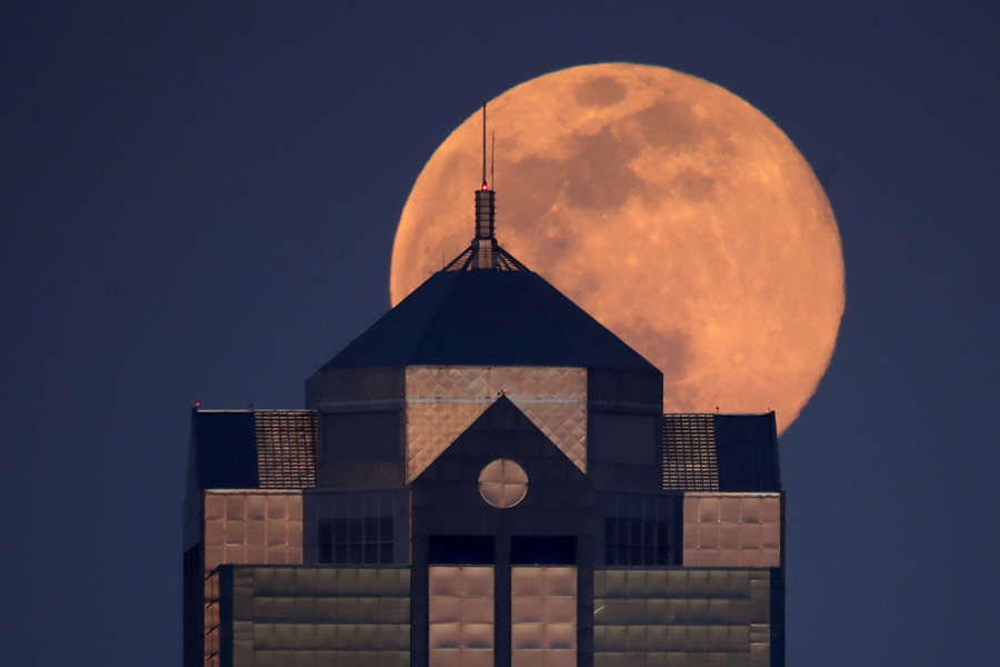 In pics: 'Pink supermoon' lights up the sky across the world