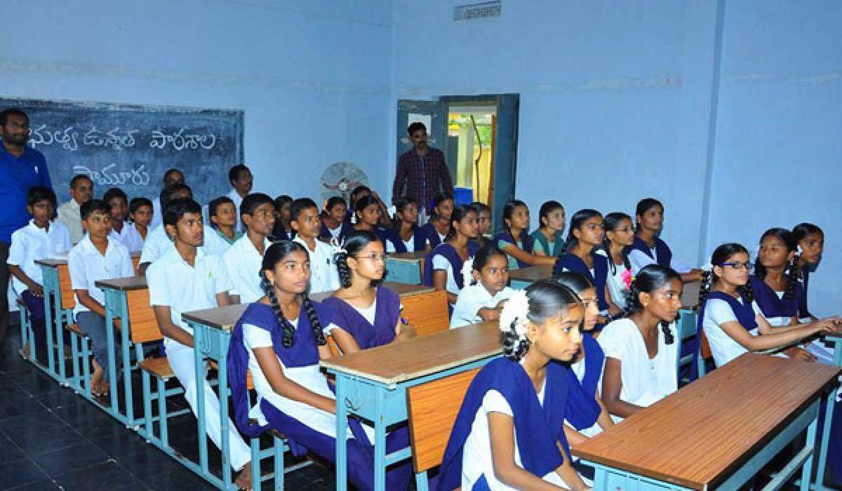 Hindi medium government school students cover NCERT topics through Sankalp App