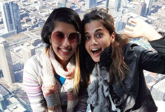 Taapsee and Shagun on one of their holidays (BCCL)