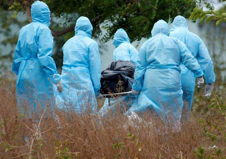 Bone-chilling pictures of mass graves for coronavirus victims