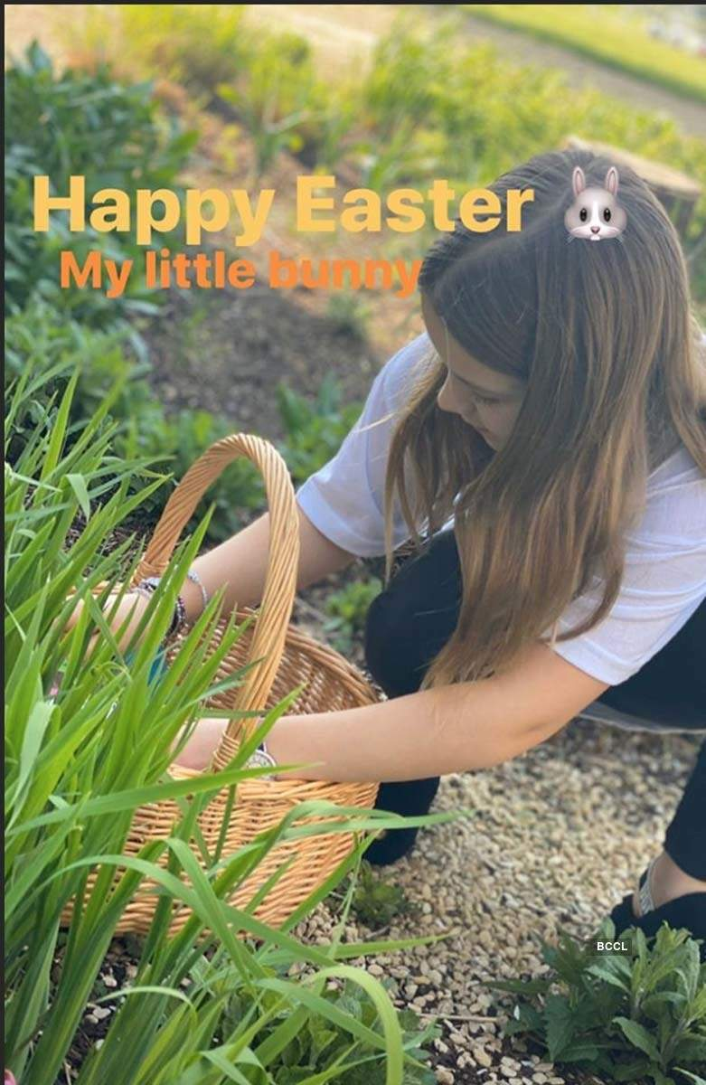 David Beckham takes daughter Harper on Easter egg hunt amid COVID-19 lockdown