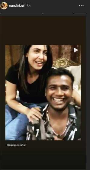 Nandini Rai shares Rahul video