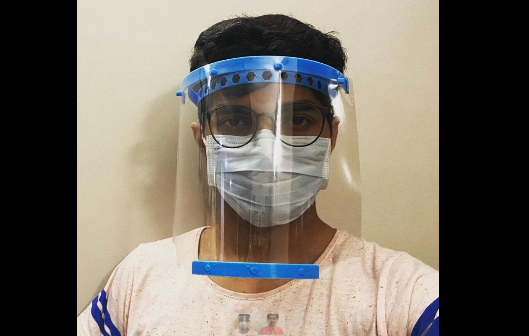 BBA student uses cornstarch to make face shield for health workers