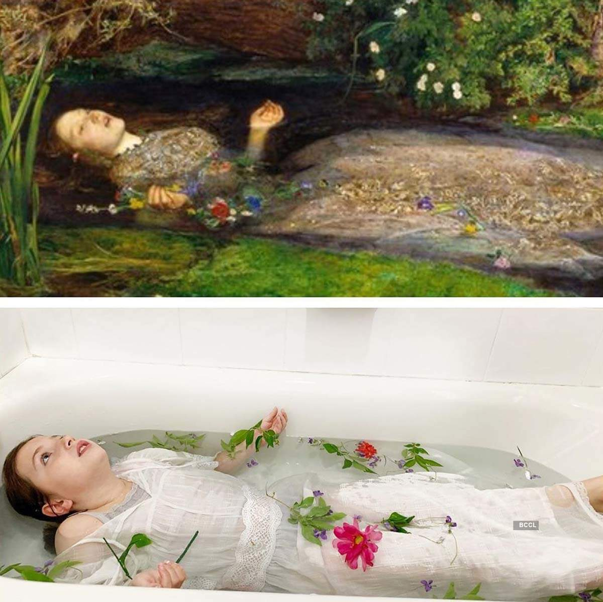 Rib-tickling pictures of quarantined people recreating famous works of art