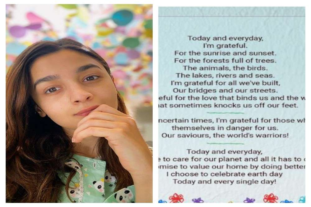 Alia Bhatt pens a beautiful poem on the Earth Day and we replicate her feeling!