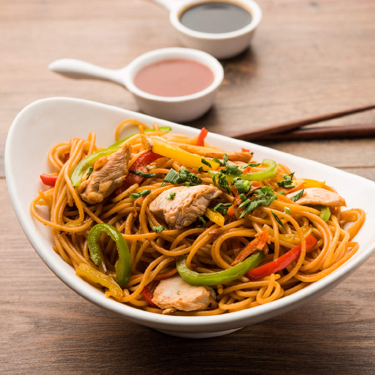 Chicken Hakka Noodles Recipe How To Make Chicken Hakka Noodles Recipe Homemade Chicken Hakka Noodles Recipe