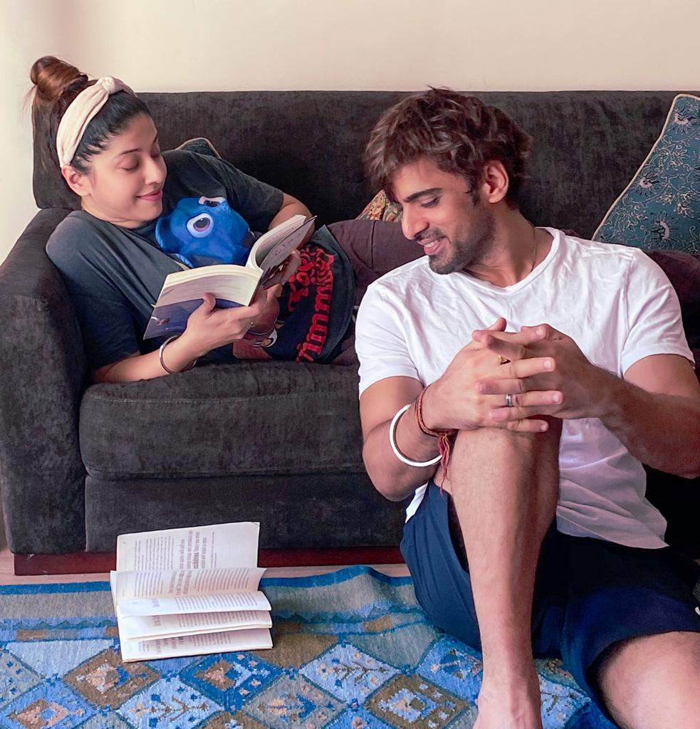 Mohit Mallik in a reading session along with his actor-wife, Aditi