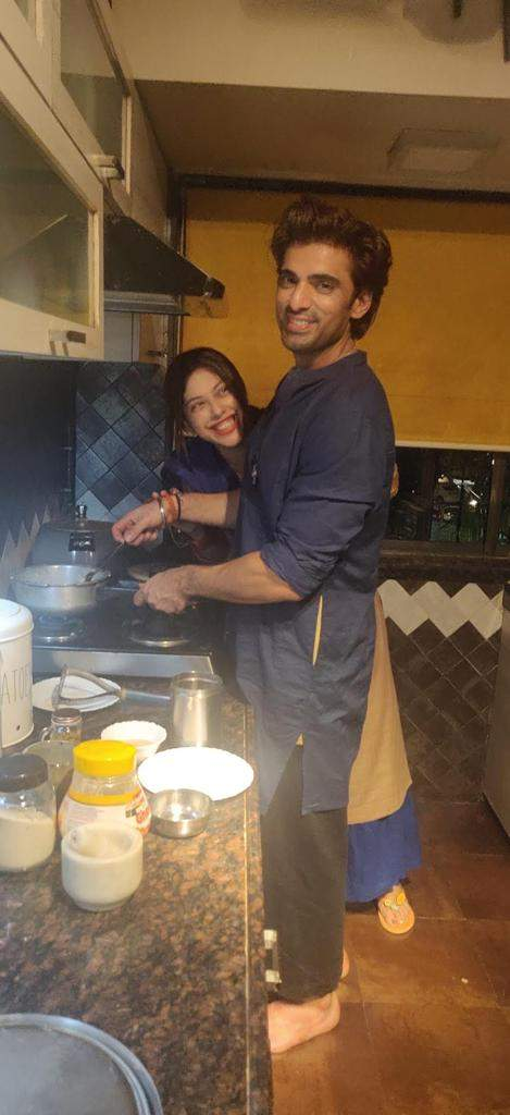 Mohit while cooking
