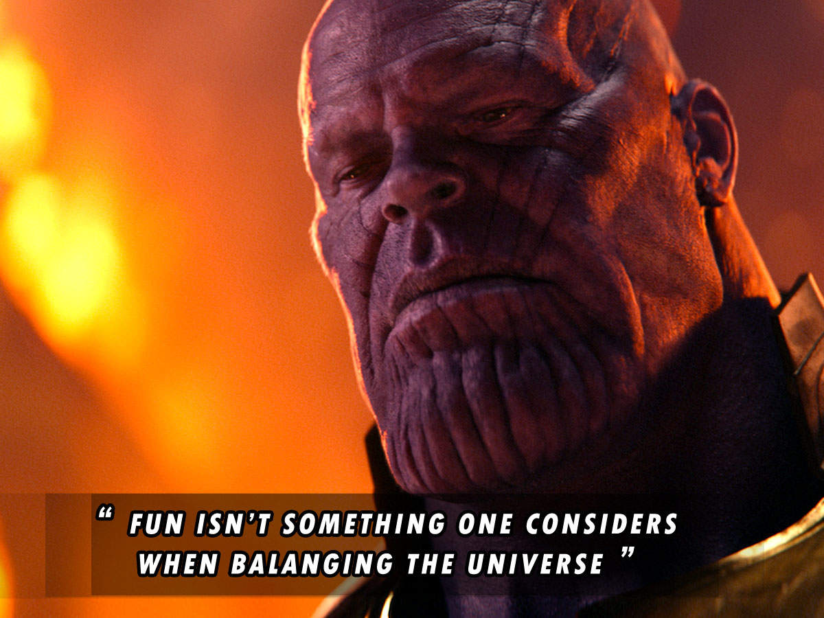 One Year Of Avengers Endgame 5 Thanos Quotes That Are So Relatable In Lockdown English Movie News Times Of India