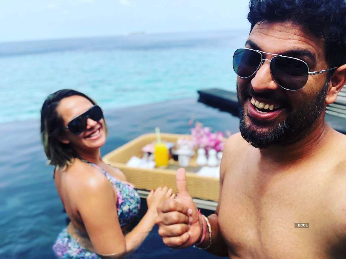 This picture of Yuvraj Singh with Hazel Keech prove they are the perfect quarantine couple