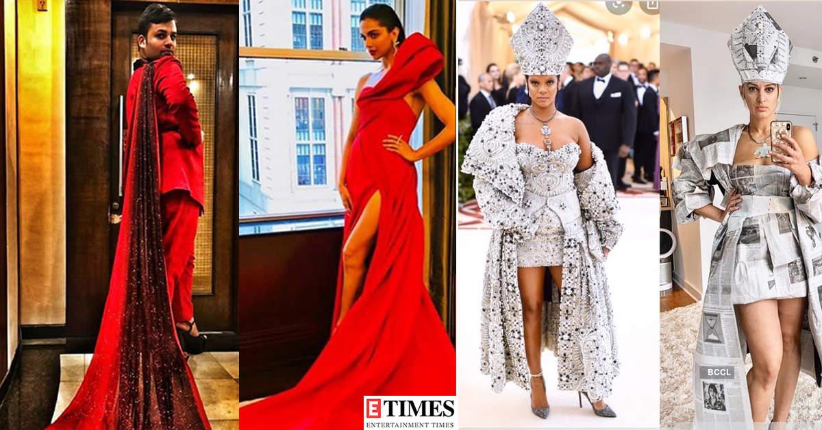 Fans recreate Deepika Padukone and Priyanka Chopra's iconic Met Gala looks at home