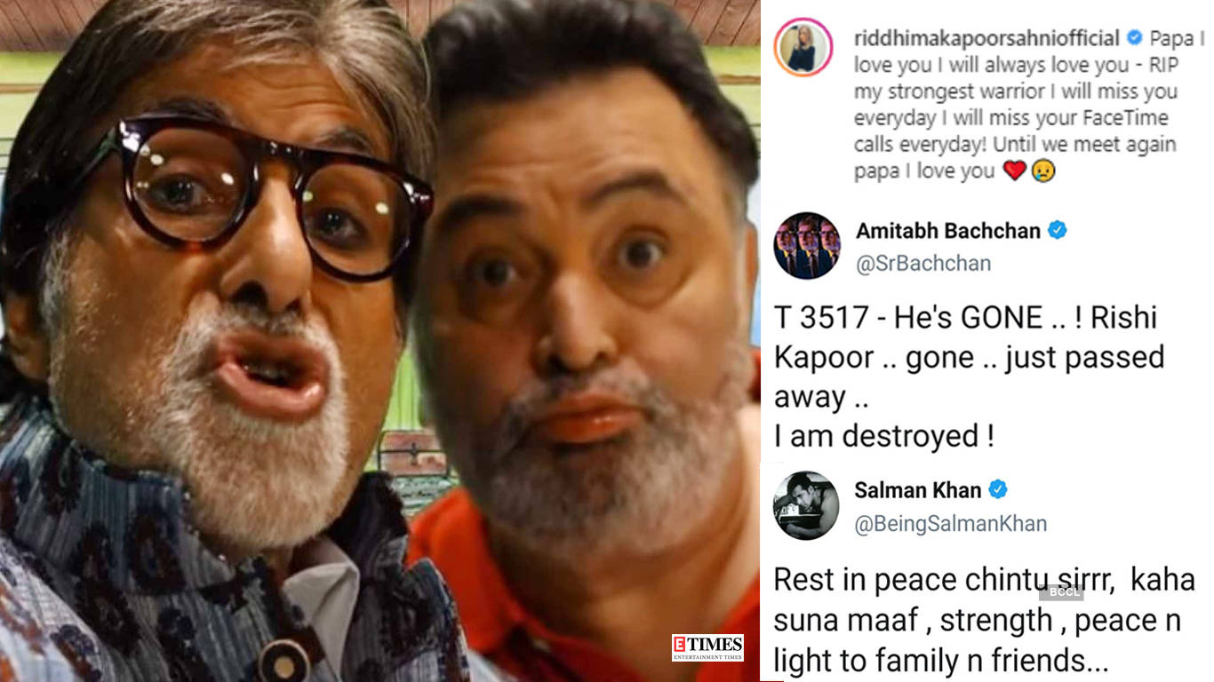 From Big B, PM Modi to Sachin Tendulkar, tributes pour in for Bollywood's legend Rishi Kapoor