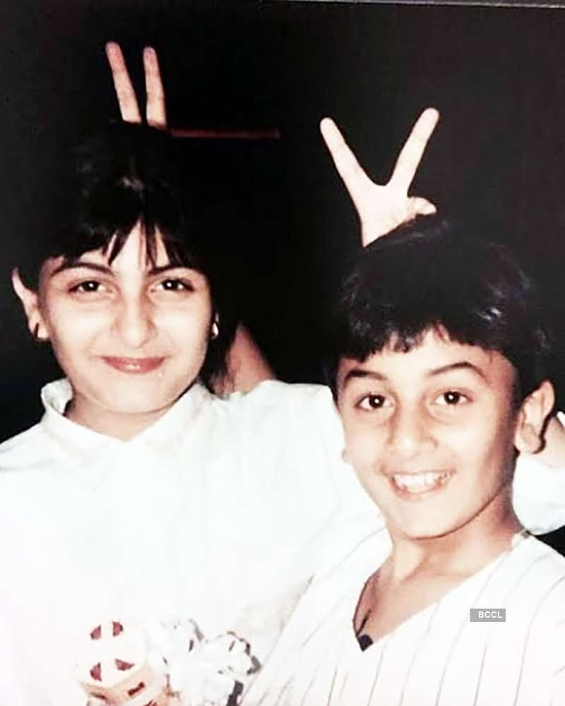 These goofy pictures of Ranbir Kapoor and sister Riddhima Kapoor go viral…