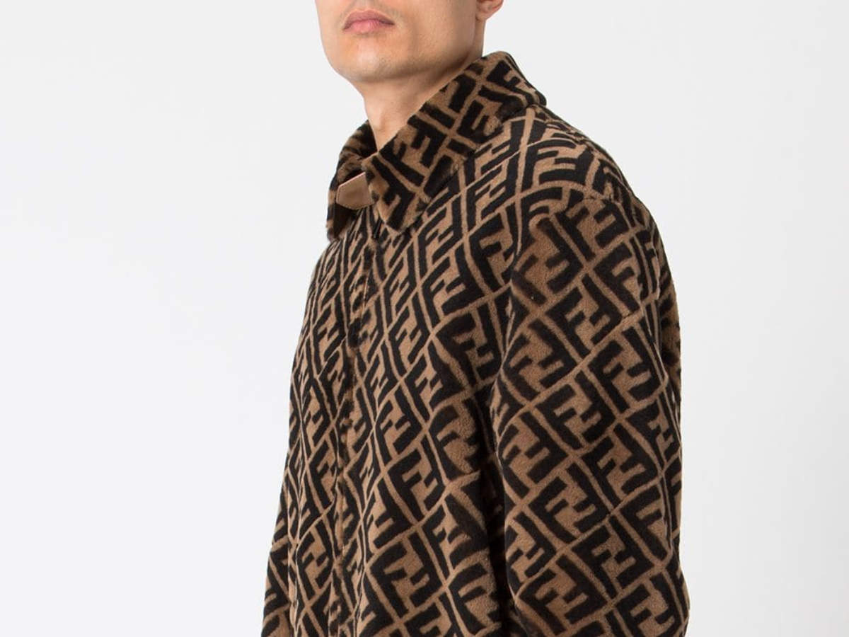 fendi jacket brown