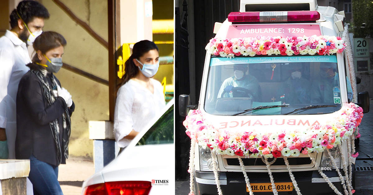 Unseen pictures from Rishi Kapoor's funeral will surely leave you teary-eyed!