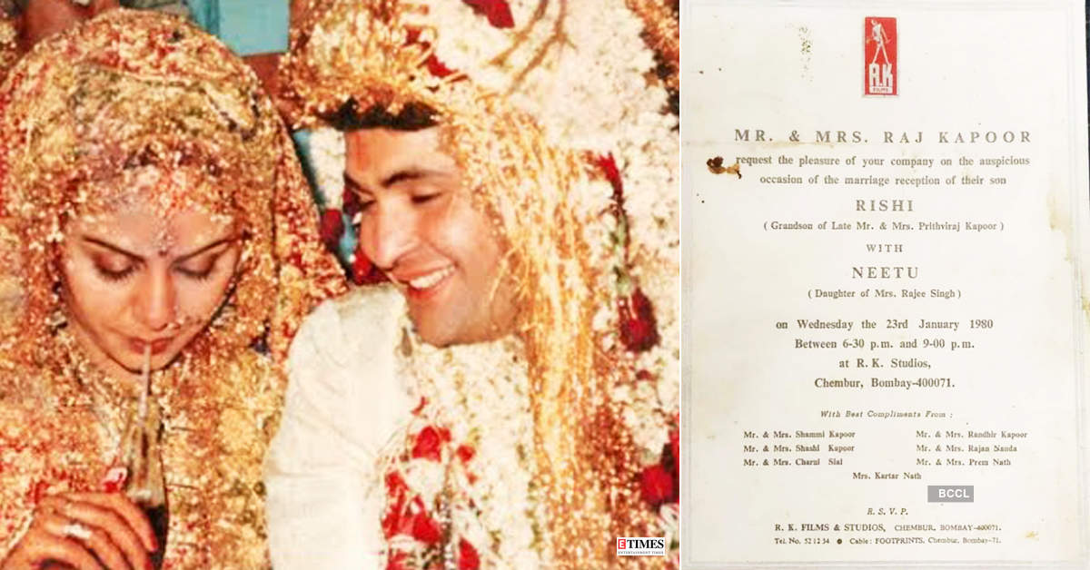 This picture of Rishi Kapoor and Neetu Singh's wedding card goes viral...