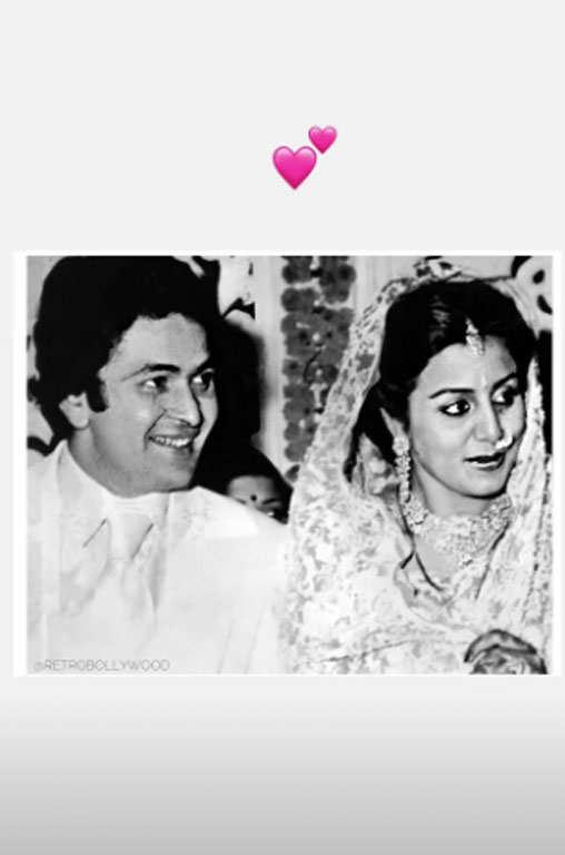 Rishi Kapoor Photo With Wife