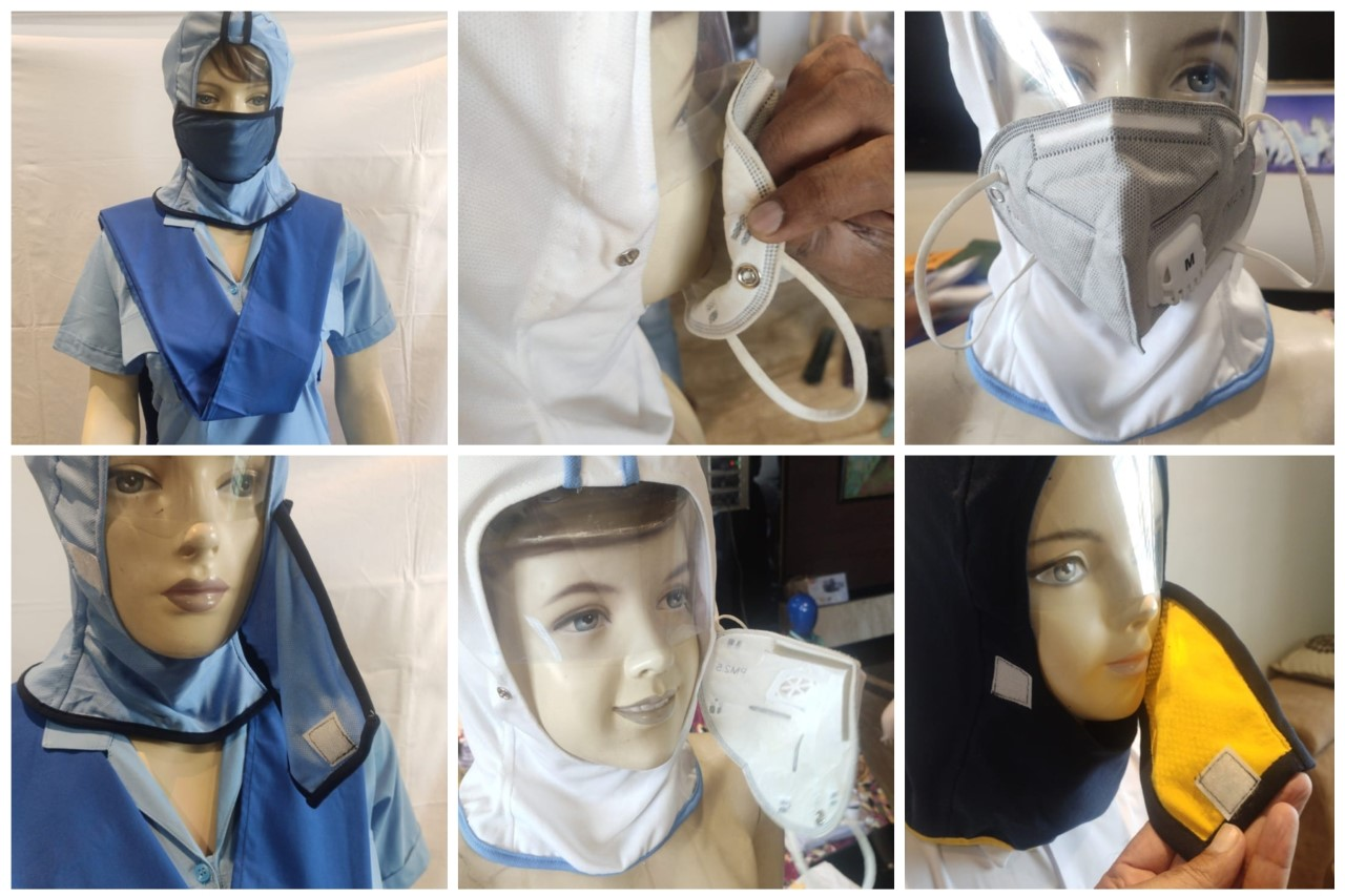 Need a helmet to escape COVID? UPES researchers create one with fabric