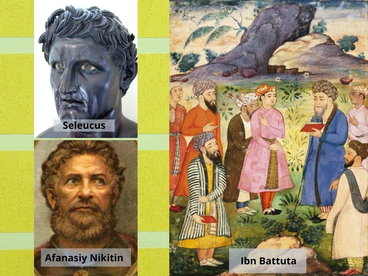 Seleucus, Ibn Battuta and Afanasiy Nikitin