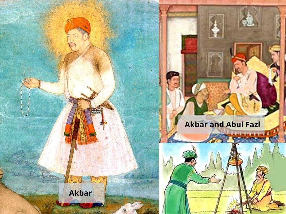 Akbar and Abul Fazl