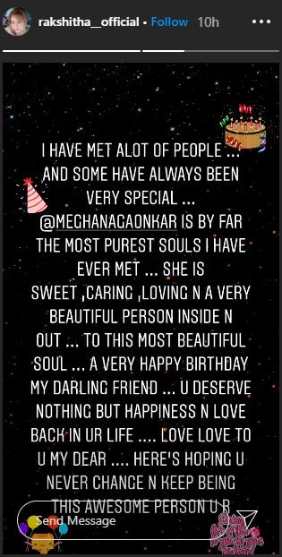 Happy Birthday Meghana Gaonkar Jaggesh Rakshitha And Other Kannada Stars Wish The Actress Kannada Movie News Times Of India Sending birthday greetings has become a necessary tradition these days. happy birthday meghana gaonkar jaggesh