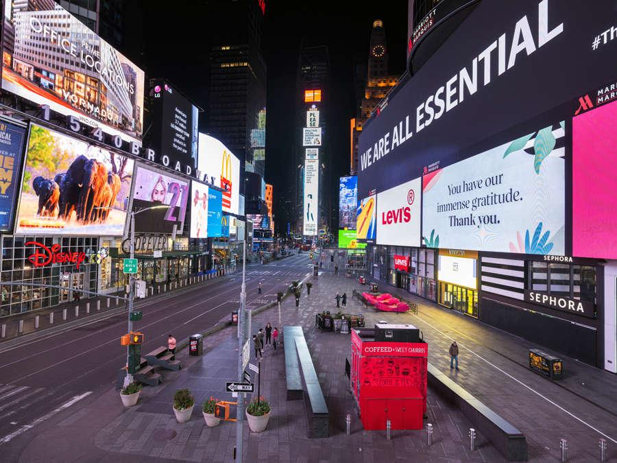 In pics: Empty streets of New York City