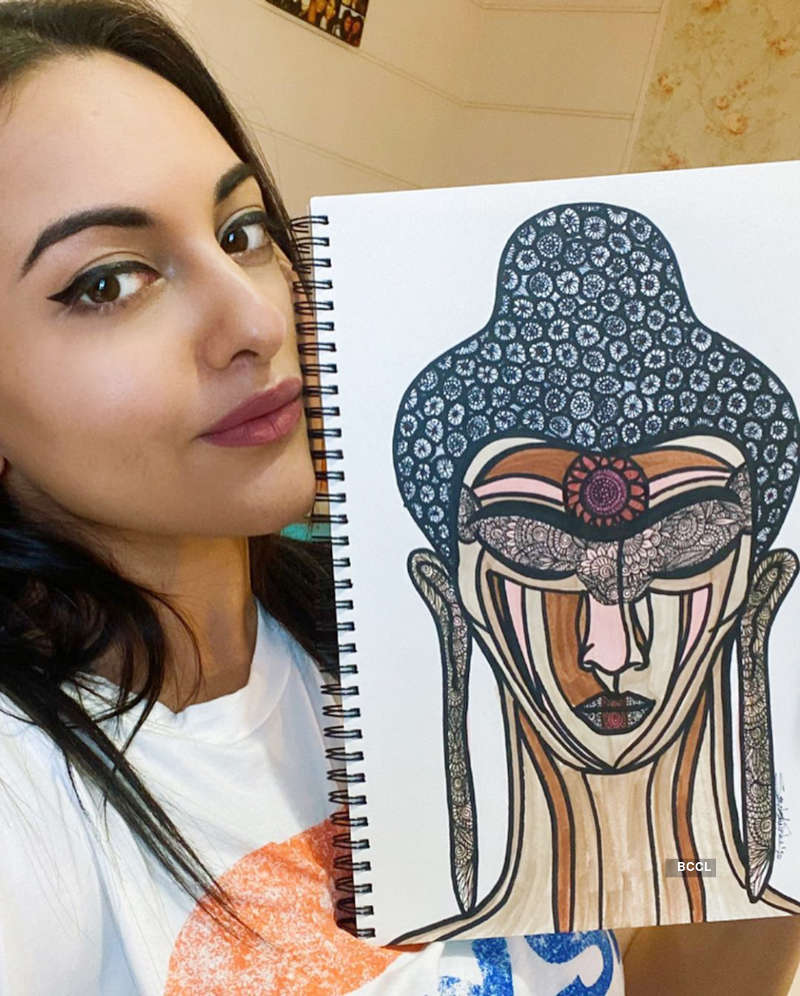 Covid-19 outbreak: Sonakshi Sinha auctions her artwork to raise fund for daily wage workers