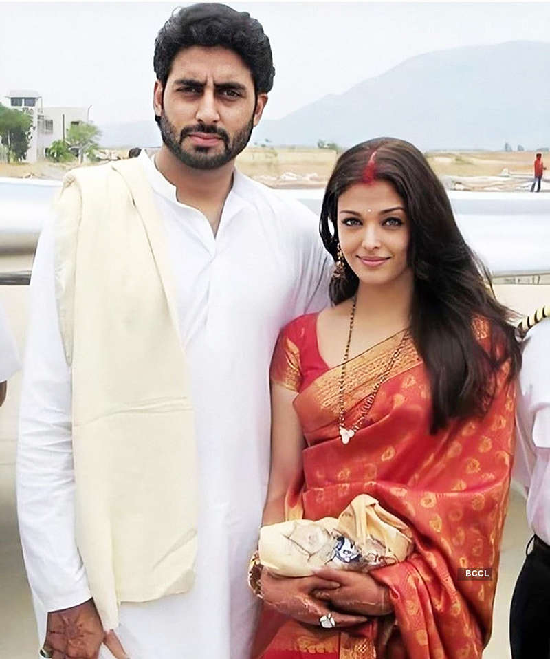 Unseen pictures of Abhishek Bachchan & Aishwarya Rai from their wedding puja