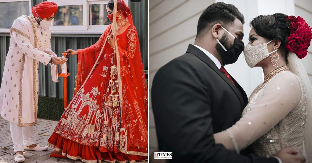 Lockdown weddings: Pictures of masked brides and grooms show that this is the new normal!