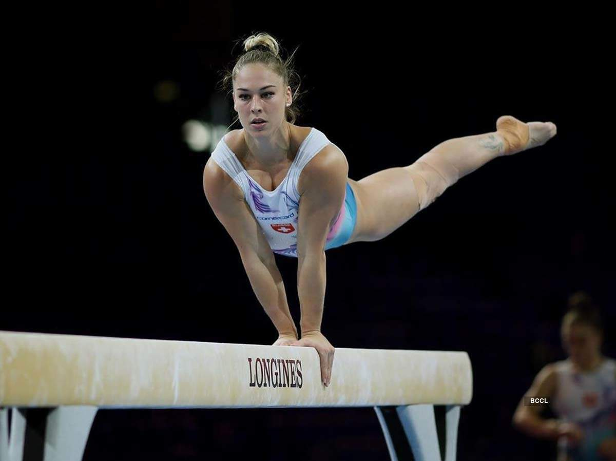 These pictures of super flexible gymnast Giulia Steingruber prove she is a human rubberband