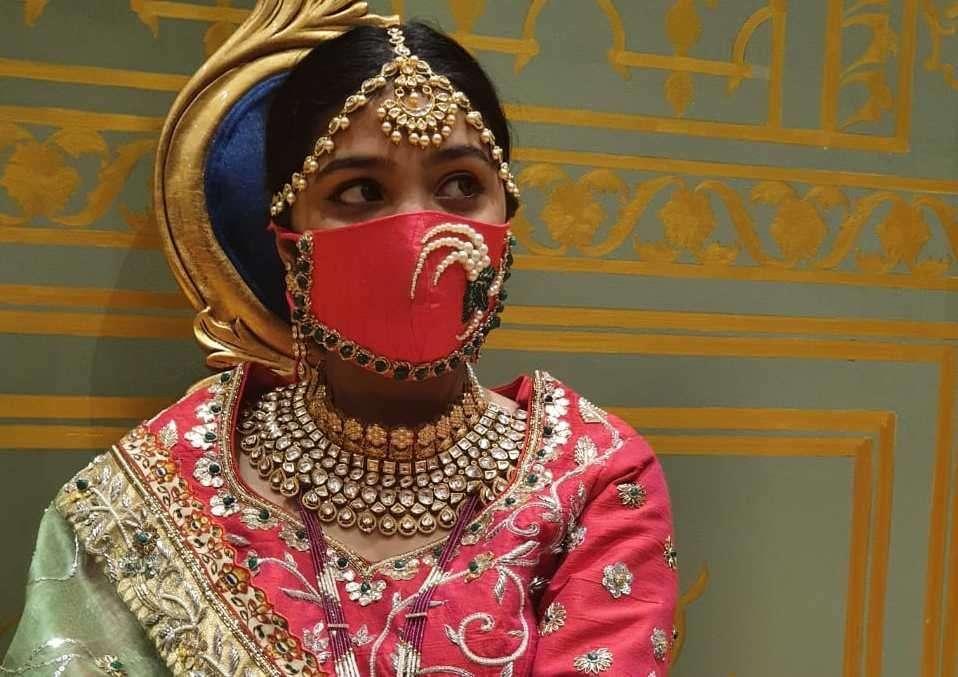 Wedding face mask