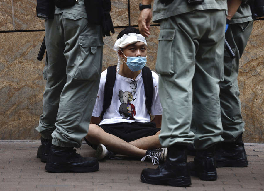 Nearly 300 protesters arrested in Hong Kong