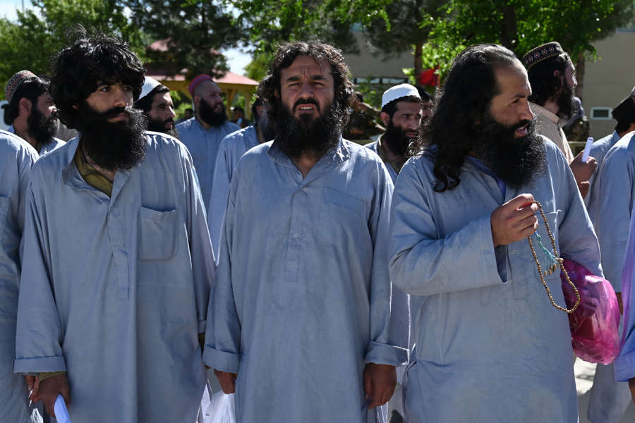Pictures of Taliban prisoners freed by the Afghan Government