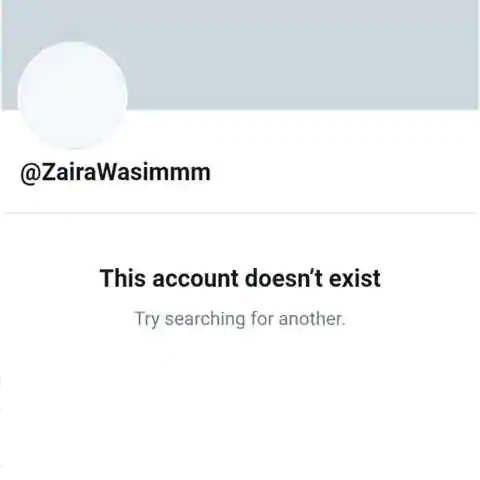 Zaira Wasim twitter
