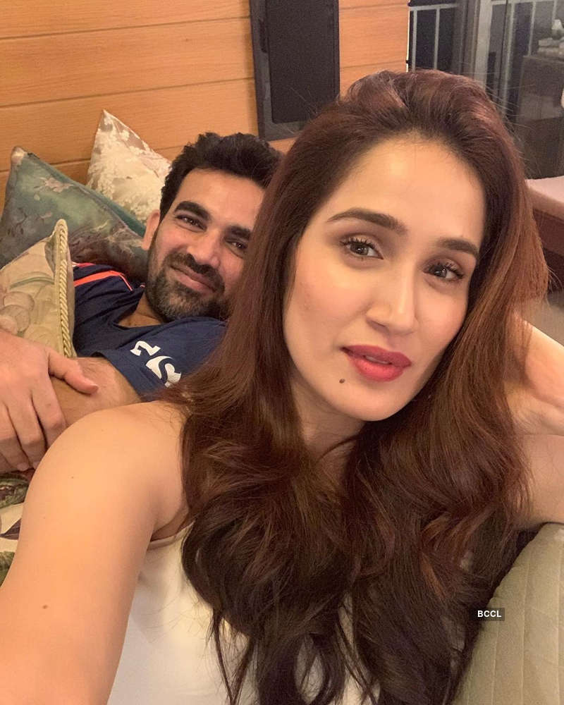 Romantic pictures of much-in-love couple Zaheer Khan and Sagarika Ghatge