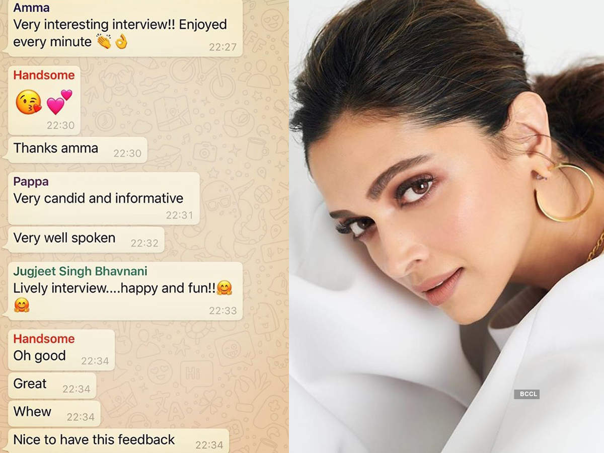 Here's a sneak peek into Deepika Padukone's family WhatsApp group chat