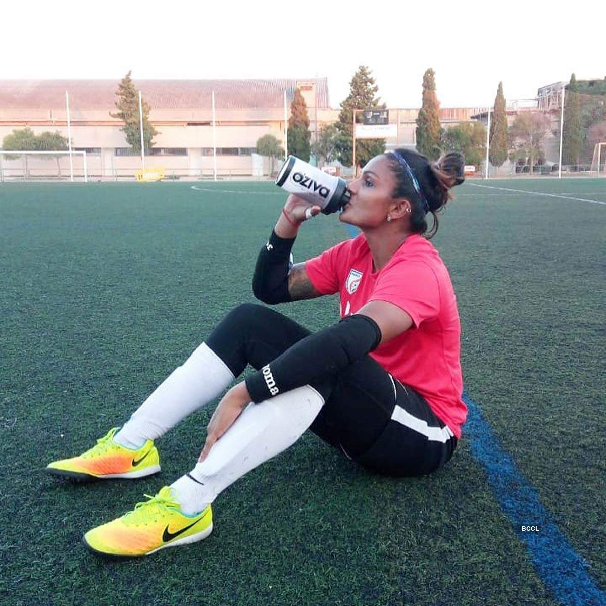 Footballer Aditi Chauhan didn't let the lockdown affect her workout routine