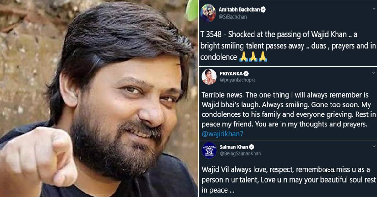 Amitabh Bachchan, Salman Khan, Priyanka Chopra and other celebs condole music composer Wajid Khan's demise