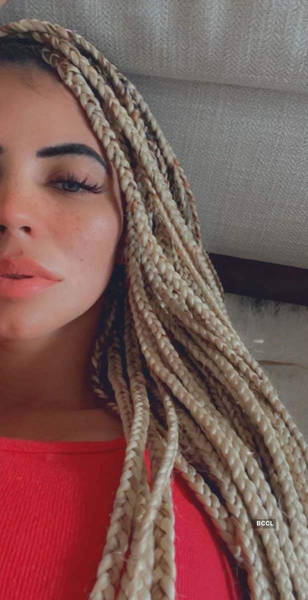 Indian golfer Sharmila Nicollet shows off her new lockdown hairstyle