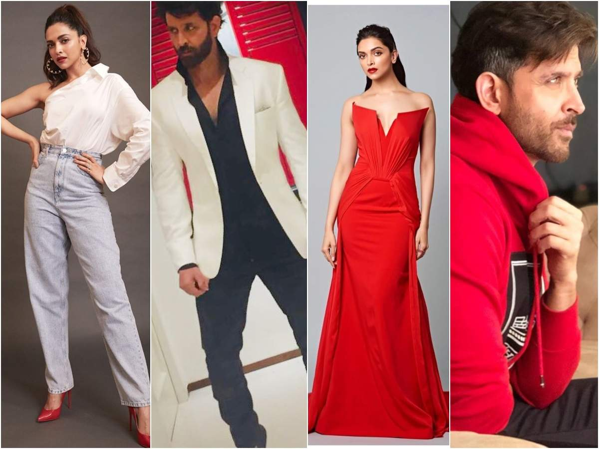 When Bombshell Deepika Padukone and the Greek god Hrithik Roshan colour co-ordinated  | The Times of India