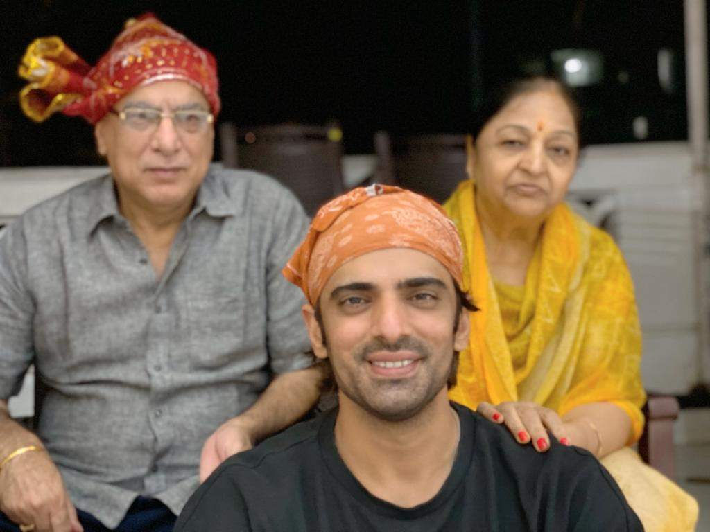 A file shot of Mohit Mallik with his parents