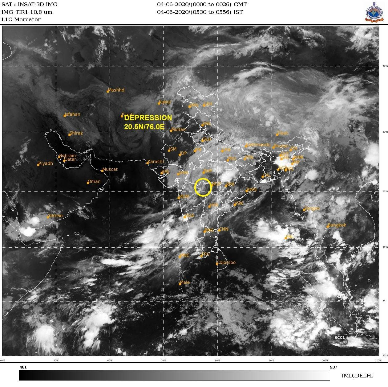 IMD shares satellite pictures of cyclone Nisarga